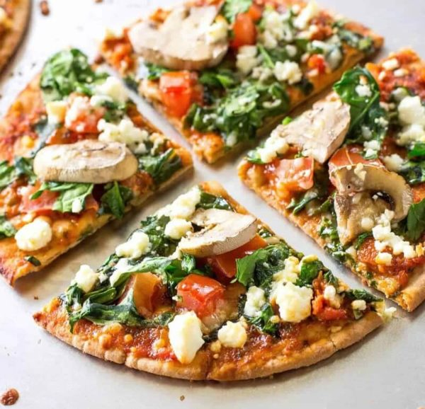 Spinach and Feta Pizza 1