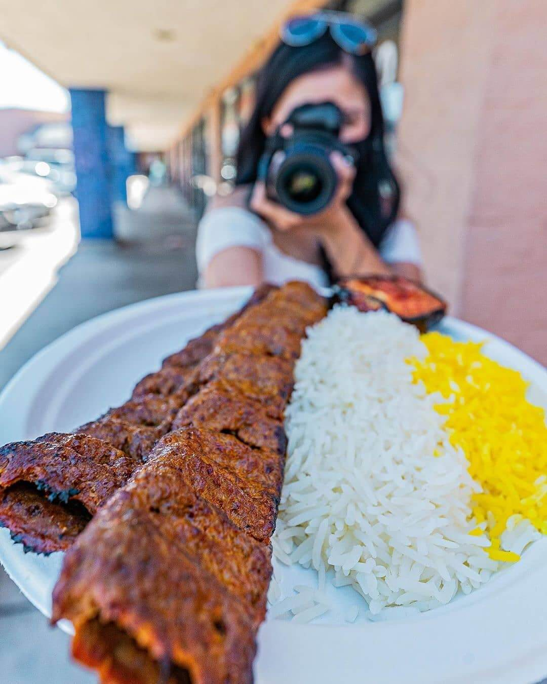 Beef Kabob dish
