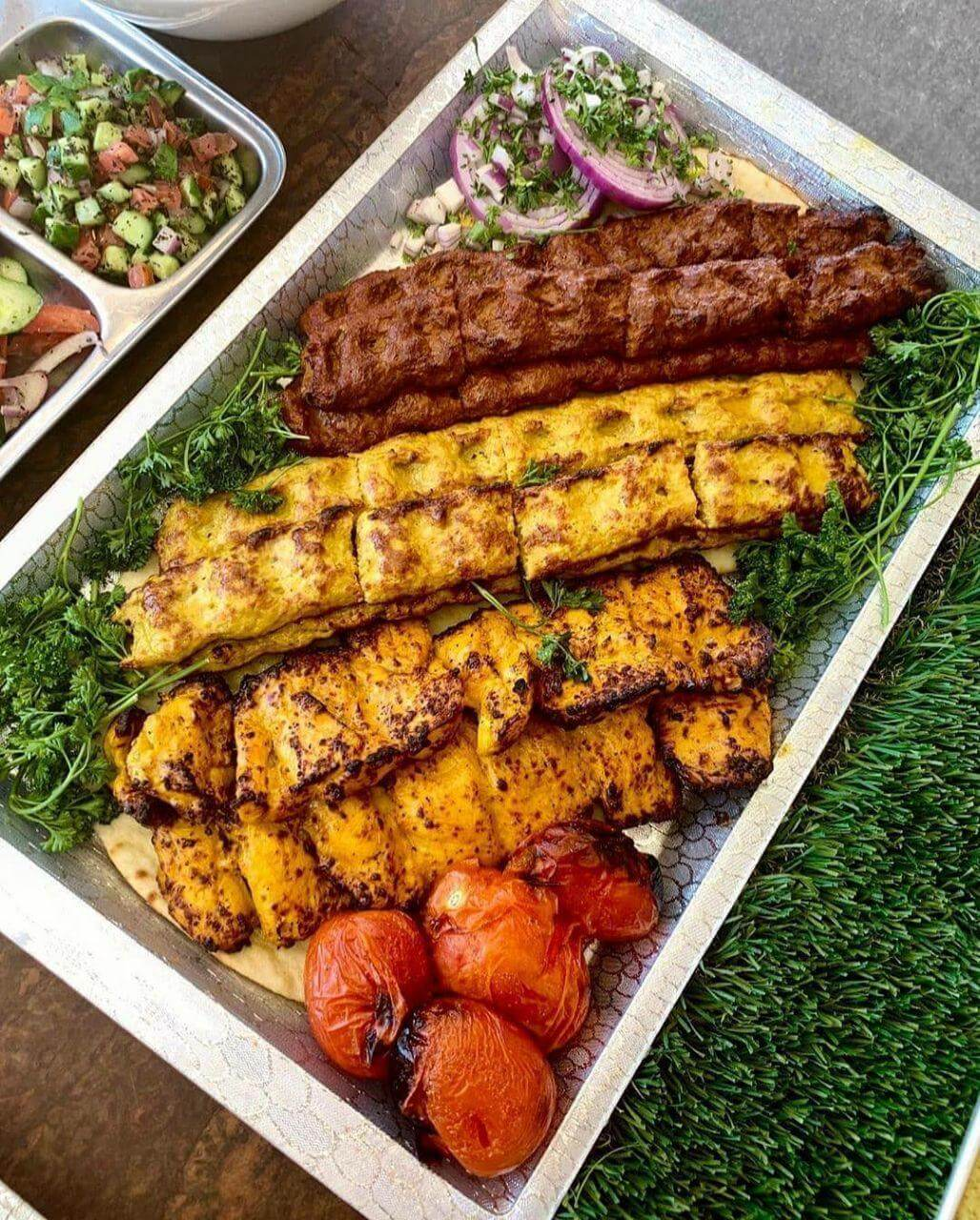 Chicken and beef Kabob