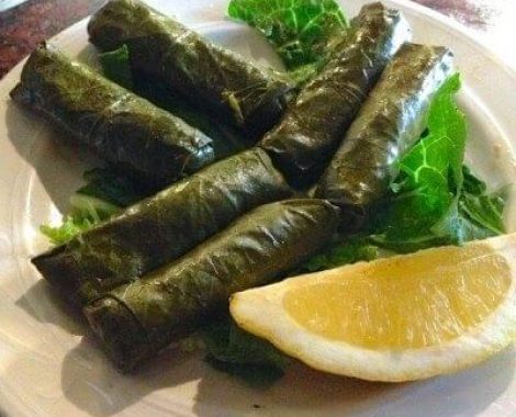 Our homemade dolmas